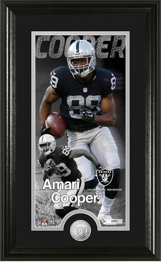 "Oakland Raiders Amari Cooper ""Supreme"" Minted Coin Panoramic Photo Mint (HM)"