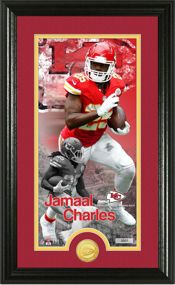 "Kansas City Chiefs Jamaal Charles ""Supreme"" Bronze Coin Panoramic Photo Mint (HM)"
