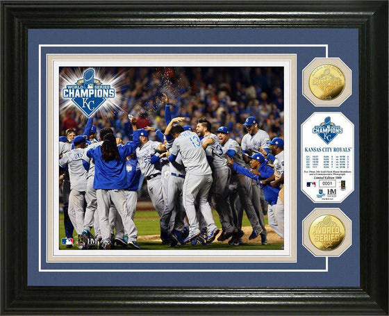 "Kansas City Royals 2015 World Series Champions ""Celebration"" Gold Coin Photo Mint (HM)"