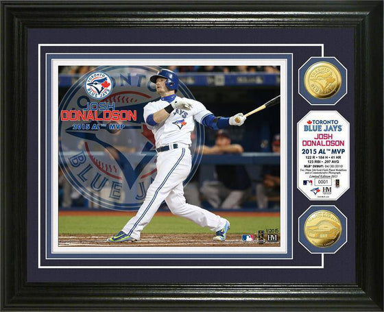 "Toronto Blue Jays Josh Donaldson ""AL MVP"" Gold Coin Photo Mint (HM)"