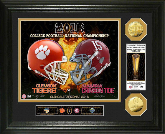 2016 College Football National Championship Game Gold Coin Photo Mint  (HM) - 757 Sports Collectibles