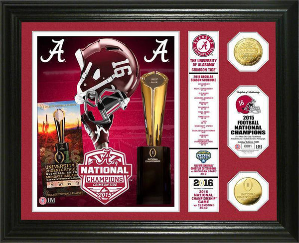 "Alabama Crimson Tide Alabama 2015 College Football National Champions ""Banner"" Gold Coin Photo Mint (HM)"