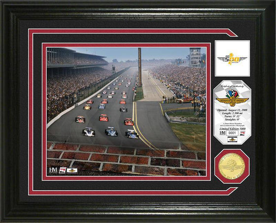 "Indianapolis 500 ""100th Running"" Bronze Coin Photo Mint (HM)"