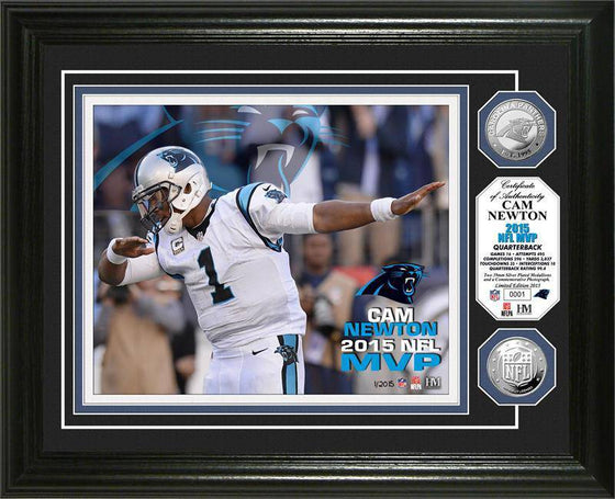 Carolina Panthers Cam Newton 2015 NFL MVP Silver Coin Photo Mint (HM)