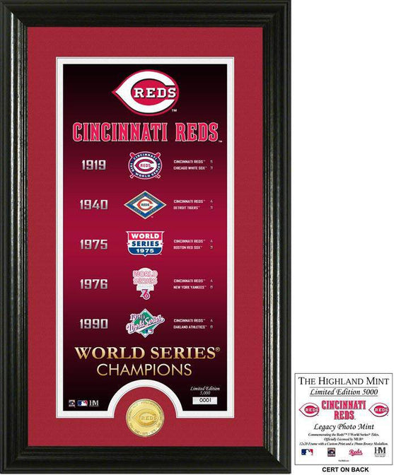"Cincinnati Reds ""Legacy"" Supreme Bronze Coin Photo Mint (HM)"