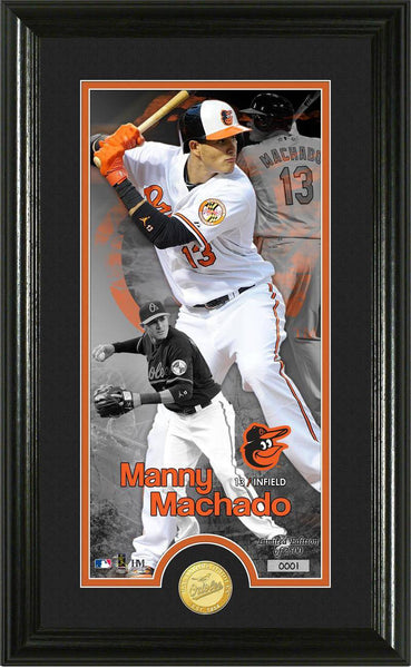 Baltimore Orioles Manny Machado Supreme Bronze Coin Photo Mint (HM)