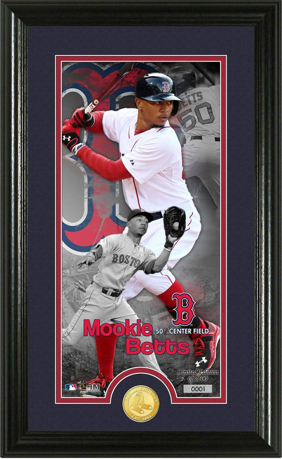 Boston Red Sox Mookie Betts Supreme Bronze Coin Photo Mint (HM) - 757 Sports Collectibles