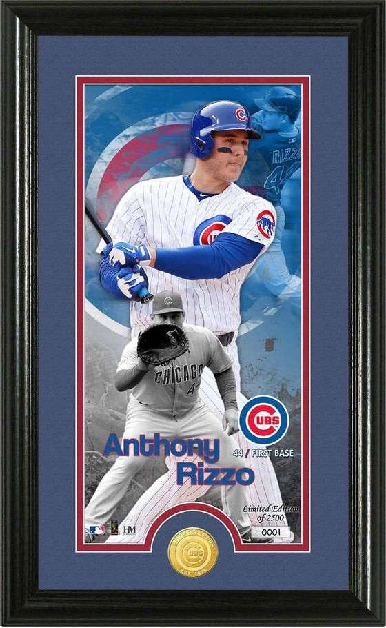 Chicago Cubs Anthony Rizzo Supreme Bronze Coin Photo Mint (HM)