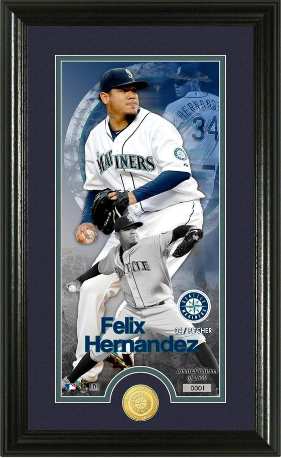 Seattle Mariners Felix Hernandez Supreme Bronze Coin Photo Mint (HM) - 757 Sports Collectibles