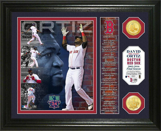 "Boston Red Sox David Ortiz ""Final Season"" Banner Bronze Coin Photo Mint (HM)"