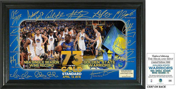 "Golden State Warriors 73 Win Record ""Signature Celebration"" Framed Photo  (HM)"