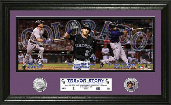 "Los Angeles Dodgers Trevor Story ""MLB Debut"" Panoramic Silver Coin Photo Mint (HM)"