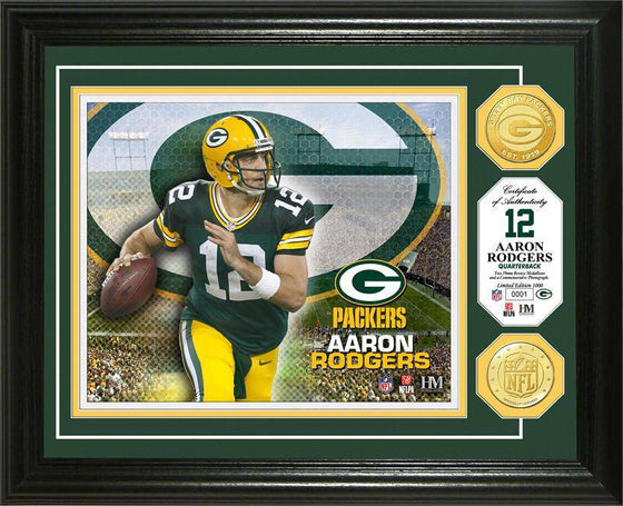 New England Patriots Aaron Rodgers Bronze Coin Photo Mint (HM)