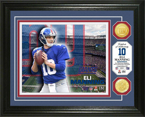 New York Giants Eli Manning Bronze Coin Photo Mint (HM)
