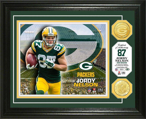 Green Bay Packers Jordy Nelson Bronze Coin Photo Mint (HM)