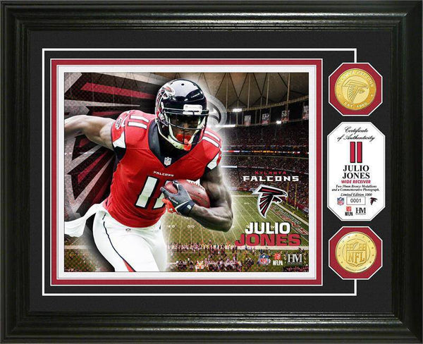 Atlanta Falcons Julio Jones Bronze Coin Photo Mint (HM)