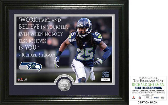 "Seattle Seahawks Richard Sherman ""Quote"" Silver Coin Photo Mint (HM)"