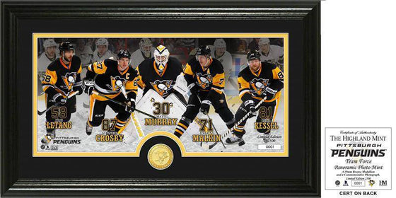 "Pittsburgh Penguins ""Team Force"" Panoramic Bronze Coin Photo Mint (HM) - 757 Sports Collectibles"