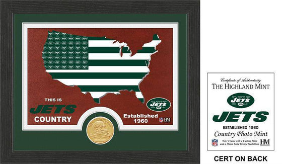 "New York Jets ""Country"" Bronze Coin Photo Mint  (HM)"