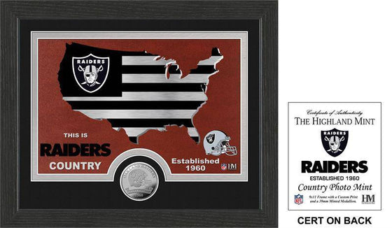 "Oakland Raiders ""Country"" Minted Coin Photo Mint   (HM) - 757 Sports Collectibles"