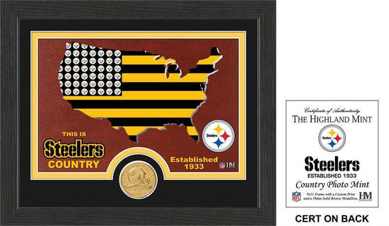 "Pittsburgh Steelers ""Country"" Bronze Coin Photo Mint  (HM)"