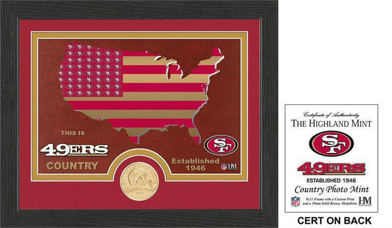 "San Francisco 49ers ""Country"" Bronze Coin Photo Mint  (HM) - 757 Sports Collectibles"
