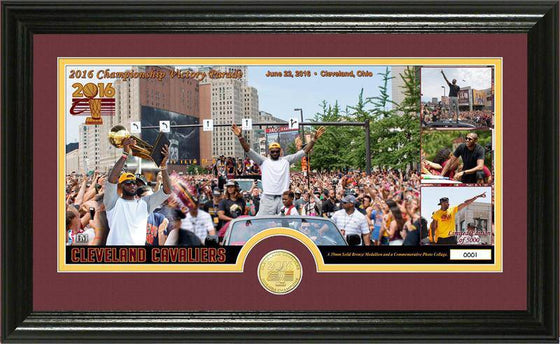 "Cleveland Cavaliers 2016 NBA Champions ""Parade"" Bronze Coin Pano Photo Mint (HM) - 757 Sports Collectibles"