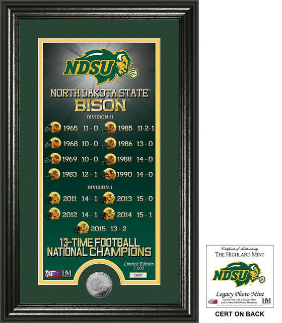 "North Dakota State Bison North Dakota State University ""Legacy"" Bronze Coin Photo Mint (HM) - 757 Sports Collectibles"