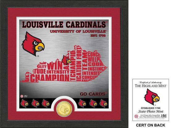 "Louisville Cardinals University of Louisville ""State"" Bronze Coin Photo Mint (HM) - 757 Sports Collectibles"