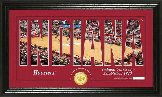 "Indiana Hoosiers Indiana University Basketball ""Silhouette"" Panoramic Bronze Coin Photo Mint (HM) - 757 Sports Collectibles"