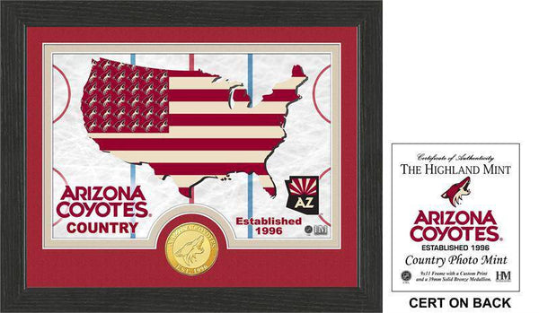"Arizona Coyotes ""Country"" Bronze Coin Photo Mint (HM)"