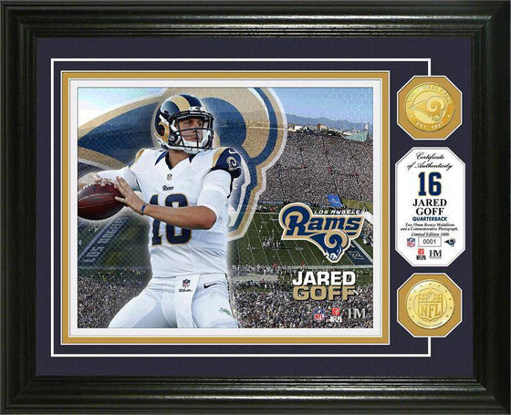 Los Angeles Rams Jared Goff Bronze Coin Photo Mint (HM) - 757 Sports Collectibles