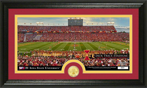 Iowa State Cyclones Iowa State University Bronze Coin Panoramic Photo Mint (HM) - 757 Sports Collectibles