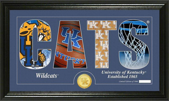 "Kentucky Wildcats University of Kentucky Basketball ""Silhouette"" Panoramic Bronze Coin Photo Mint (HM) - 757 Sports Collectibles"