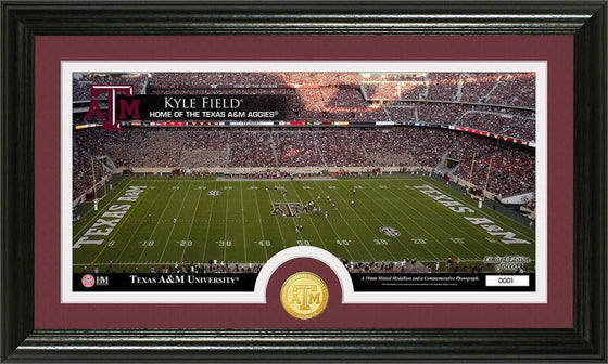 "Texas A&M Aggies Texas A&M University ""Stadium"" Panoramic Bronze Coin Photo Mint (HM) - 757 Sports Collectibles"