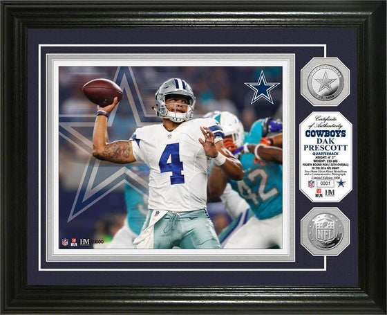 Dallas Cowboys Dak Prescott Silver Coin Photo Mint (HM) - 757 Sports Collectibles