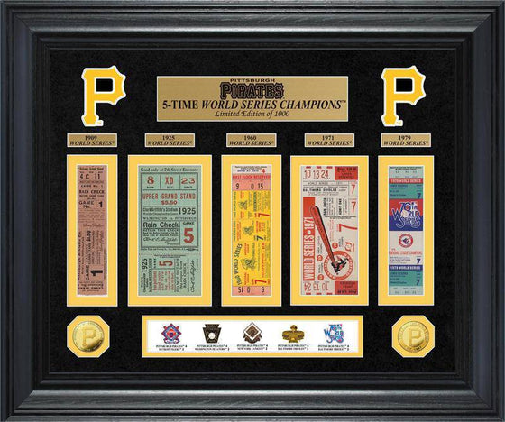 Pittsburgh Pirates World Series Deluxe Gold Coin & Ticket Collection (HM)