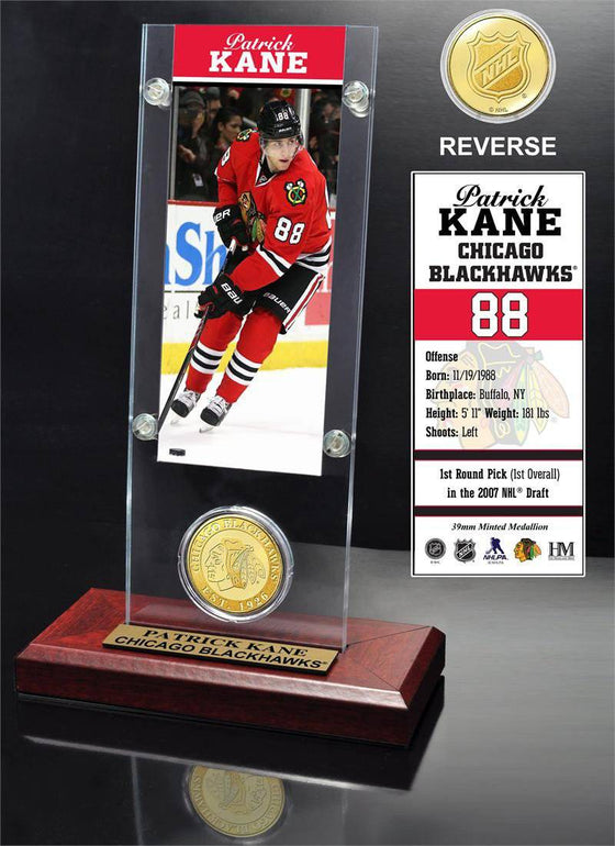 Patrick Kane Ticket and Bronze Coin Desktop Acrylic (HM)