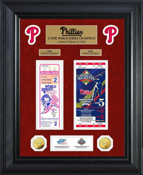 Philadelphia Phillies World Series Deluxe Gold Coin & Ticket Collection (HM)