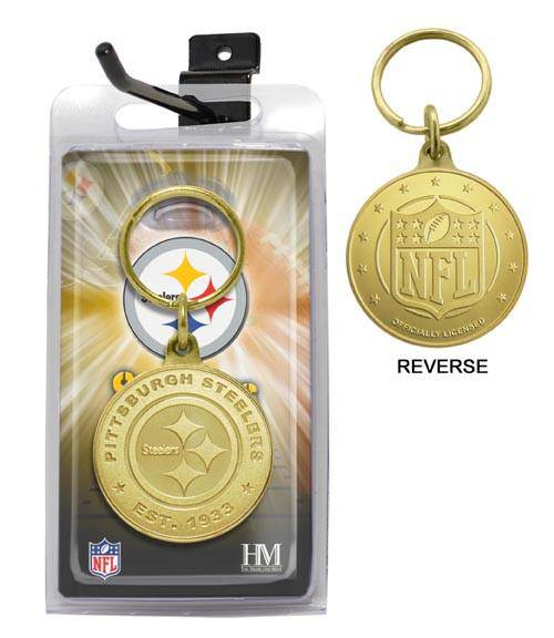 Pittsburgh Steelers Bronze Bullion Keychain (HM)