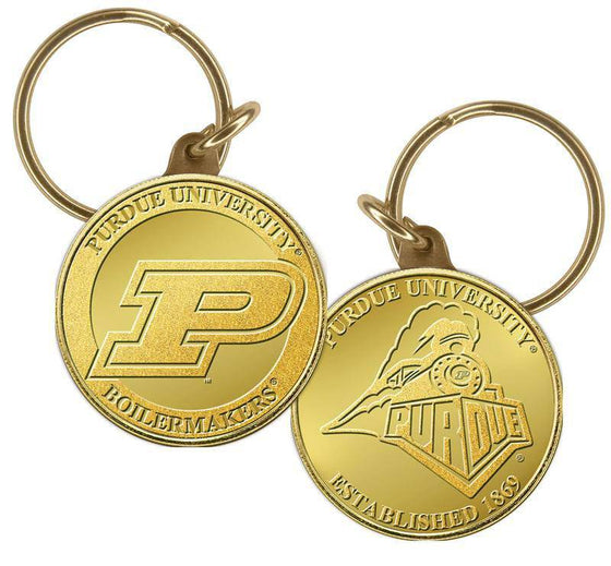Purdue Boilermakers Purdue  University  Bronze Coin Keychain (HM) - 757 Sports Collectibles