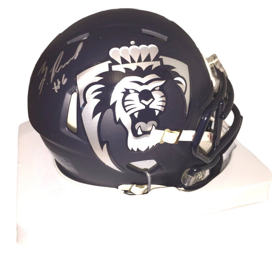 Old Dominion ODU Monarchs Zach Pascal Signed Autographed Mini Helmet (JSA PSA Pass) 757 COA 'Navy'