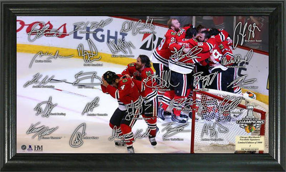 "Chicago Blackhawks 2015 Stanley Cup Champions ""Celebration"" Signature Rink (HM) - 757 Sports Collectibles"
