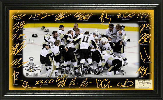 "Pittsburgh Penguins 2016 Stanley Cup Champions ""Celebration"" Signature Rink (HM) - 757 Sports Collectibles"