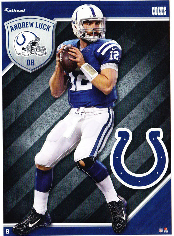NFL Indianapolis Colts Andrew Luck Fathead Tradeable Decal Sticker 5x7
