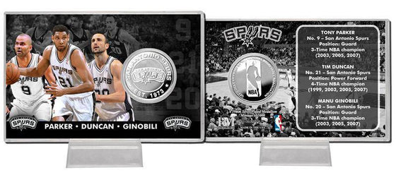 "San Antonio Spurs ""Big 3"" Silver Coin Card (HM)"