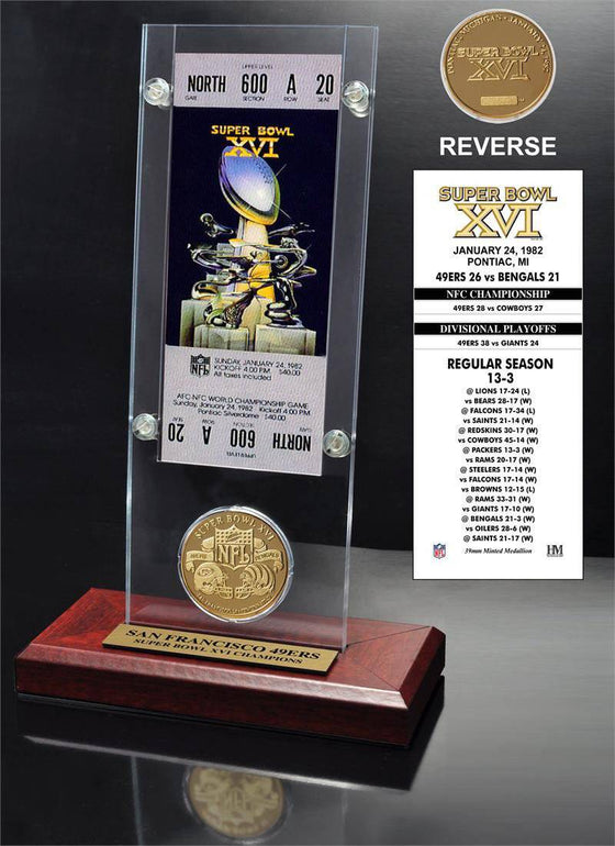 San Francisco 49ers Super Bowl 16 Ticket & Game Coin Collection (HM) - 757 Sports Collectibles