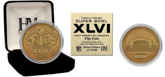 New York Giants Super Bowl XLVI Bronze Flip Coin (HM)