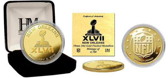 Baltimore Ravens Super Bowl XLVII Commemorative Gold Coin (HM) - 757 Sports Collectibles
