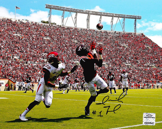Virginia Tech VT Hokies Isaiah Ford Signed Autographed 8x10 Photo 'TD Catch' (JSA PSA Pass) 757 COA